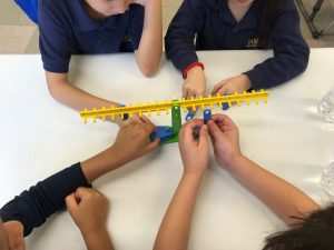 Photo of Grade 1 Students Participating in Hands On Math with Balances
