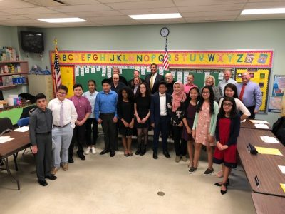 2018 Board Member for a Day Students Participating in group photo