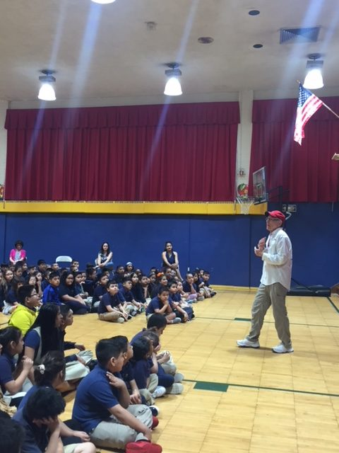 Red Grammer Anti-Bullying Program at Number Three School with Speaker Presenting